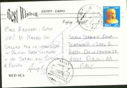 Egypt 2004 Used Postcard Send To Italy (Red Sea) - Lettres & Documents