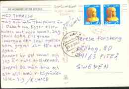 Egypt 2004 Used Postcard Send To Sweden (Red Sea) - Lettres & Documents