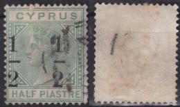 1/2 Piastre Avec Surcharge, Yv. N°14a Ou 23a Avec Surcharge Décalée Vers La Gauche - Zypern (...-1960)