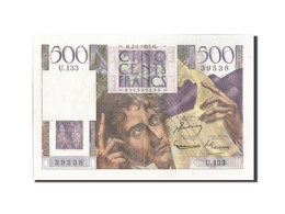 France, 500 Francs, 500 F 1945-1953 ''Chateaubriand'', 1953, 1953-01-02, KM:1... - 1871-1952 Circulated During XXth