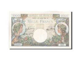 France, 1000 Francs, 1 000 F 1940-1944 ''Commerce Et Industrie'', 1944, 1944-... - 1 000 F 1940-1944 ''Commerce Et Industrie''
