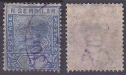 5 C. Bleu, Yv. N°4 - Negri Sembilan