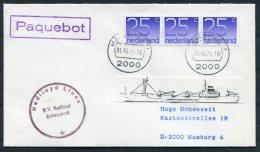 1979 Netherlands Ship Cover Nedlloyd Lines M.V. NEDLLOYD WILLEMSKERK PAQUEBOT Hamburg Germany - Covers & Documents