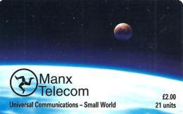 ISLE OF MAN  2 L  PLANET SPACE BLUE CHIP  READ DESCRIPTION !!!