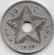 10 CENTIMES 1921 - Congo (Belgian) & Ruanda-Urundi