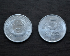 Cambodia Kambodscha 5 Sen 1979 KM#69 UNC Asia Coin Currency - Camboya