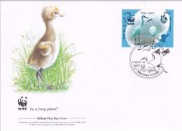 WWF - 410,22 - 1,04 € - D' FDC - 9-9-2007 - 650Ris - Siberian Crane - Iran 1399211 - FDC