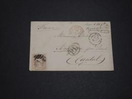 ESPAGNE - Enveloppe De Malaga Pour La France En 1870 - A Voir - L 1742 - Cartas