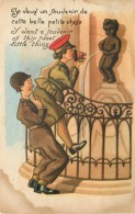 BRUXELLES - Manneken Pis, Carte Humoristique.(thème Photo) - Personaggi Famosi
