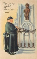 BRUXELLES - Manneken Pis, Carte Humoristique. - Personaggi Famosi