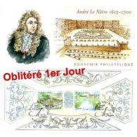 Bloc Souvenir N° 80 Oblitéré 1er Jour - André Le Nôtre - Blocs & Feuillets