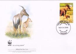 WWF - 392,21 - 1,05 € - D' FDC - 24-11-2006 -  - Topi - Tanzania 1391211 - FDC