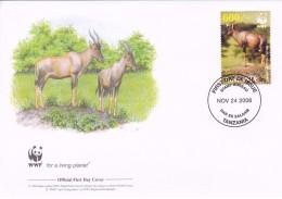 WWF - 392,22 - 1,12 € - D' FDC - 24-11-2006 -  - Topi - Tanzania 1391211 - FDC