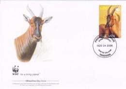 WWF - 392,24 - 1,25 € - D' FDC - 24-11-2006 -  - Topi - Tanzania 1391211 - FDC