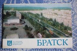 RUSSIA USSR.  Bratsk, Siberia- 8 Postcards Lot. 1980s - - Russie