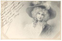 Cpa Signée Wichera, Portrait De Femme    ( Adressée à Marcelle De Cessole, Croissy ) - Wichera