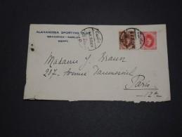 EGYPTE - Enveloppe De Alexandrie Pour La France En 1926 - A Voir - L 1762 - Egypt