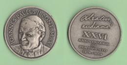Papa Giovanni Paolo II 1978 - 2004   26° Anniversario Pontificato - Gettoni E Medaglie