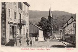 6399. CPA 88 CORNIMONT. GRANDE RUE ET L'EGLISE - Cornimont