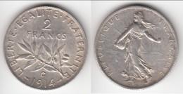 **** 2 FRANCS 1914 C CASTELSARRASIN SEMEUSE - ARGENT - SILVER **** EN ACHAT IMMEDIAT !!! - I. 2 Francs