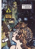 CPM MONTMARTRE Absinthe Art Nouveau Caricature Tirage Limité RARE JIHEL / LARDIE - Lardie