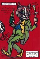 CPM MONTMORILLON Absinthe Chat Humanisé Position Humaine Cat Catze Caricature Tirage Limité JIHEL / LARDIE - Lardie