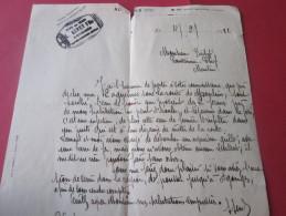 LETTRE MANUSCRIT SAINT-MENOUX ALLIER 4-2-1922 PRES DE CHEZ MOI à MOULINS 2 AQUEDUCS SOUS LA ROUTE BOUCHES LIRE SUITE - Manuscrits