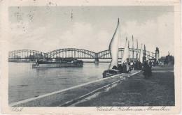AK Sowetsk Tilsit Kurische Fischer Memelkai Luise Brücke Fähre Schiff Hafen Bei Memel Klaipeda Königsberg Kaliningrad - Ostpreussen