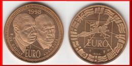 ESSAI NEUF **** 10 EURO 1998 DE GAULLE - ADENAUER - BRONZE - NEUF - Gravé Par JIMENEZ **** EN ACHAT IMMEDIAT !!! - Francia