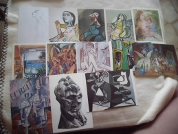 LOT DE 13 CARTES ...OEUVRES DE PICASSO - Cartes Postales