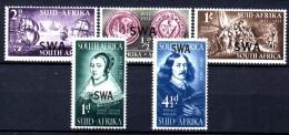T370 -  SOUTH WEST AFRICA 1952,  Serie Cinque Valori  *** - Africa Del Sud-Ovest (1923-1990)