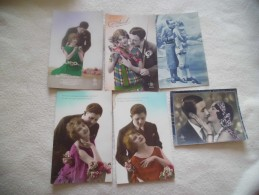 LOT DE 6 CARTES ...COUPLES ....... - Cartes Postales