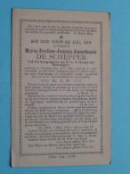 DP Maria-Evelina-Joanna-Anasthasia DE SCHEPPER ( ) Brugge 26 Mei 1866 - 8 Juni 1897 ( Zie Foto's ) ! - Obituary Notices