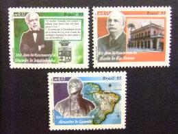 BRASIL BRÉSIL 1995 ANIVERSARIOS Yvert Nº 2225 /27 ** MNH - Unused Stamps
