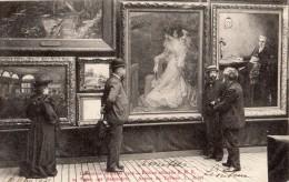 EXPOSITION DE REIMS 1903 SALON DES BEAUX ARTS AUTOUR DU TABLEAU L. RIDEL (CARTE PRECURSEUR) - Reims