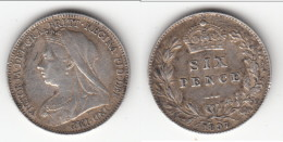 *** GREAT BRITAIN - GRANDE-BRETAGNE - 6 PENCE 1897 - SIX PENCE 1897 - VICTORIA - SILVER - ARGENT *** ACHAT IMMEDIAT !!! - 1816-1901 : Frappes XIX° S.