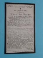 DP Edward Van BEVEREN ( Cleemput/Cleyman ) Evergem 1 Juli 1827 - Belzeele 5 Aug 1916 ( Zie Foto's ) ! - Avvisi Di Necrologio