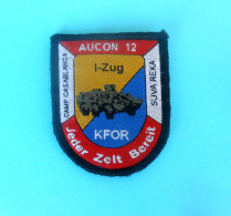 KFOR (Kosovo Forces) - NATO Peacekeeping Mission Patch * AUSTRIA ARMY Osterreich Armee Flicken BASE CASABLANCA SUVA REKA - Patches