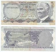 Turquía - Turkey 5 Lirasi 1976 (L1970) Pick 185 Ref 852 - Turquia