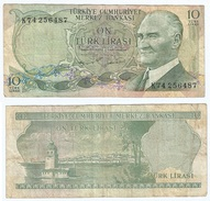 Turquía - Turkey 10 Lirasi 1975 (L 1970) Pick 186 Ref 856 - Turquia