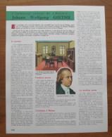 Document Thema 1966 - Johann Wolfgang GOETHE / Musicien Musique  //  VP 01/TU-5 - Ohne Zuordnung