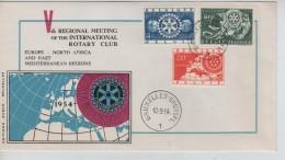 TP 952/954 Rotary International FDC C.Bruxelles-Brussel 10/9/1954 PR3401 - 1951-60