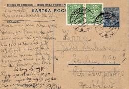 Pologne Entier Postal Dynow Pour L'Allemagne 1930 - 1919-1939 Republic