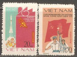 Vietnam 1981 Mi# 1153-1154 (*) Mint No Gum - 26th Soviet Communist Party Congress / Space - Space