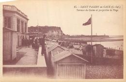 76 SAINT-VALERY-EN-CAUX TERRASSE DU CASINO ET PERSPECTIVE DE PLAGE - Saint Valery En Caux