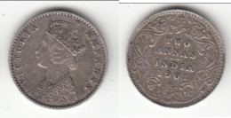**** BRITISH INDIA - INDES ANGLAISES - 2 ANNAS 1901 - TWO ANNAS 1901 VICTORIA - SILVER - ARGENT **** ACHAT IMMEDIAT !!! - Colonies