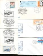 LOTE DE 30 SOBRES Y TARJETAS DIFFERENT DIFFERENTES ANTARTICS ANTARTIDE  ANTARTIDA ARGENTINA ZTU - Postzegels