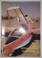 Revue Pilote Privé N°127 1984 PFA Rally - Cahors - Coupe De France Hélicoptère - Vol à Voile - Parachutisme - Aviation - Aviación