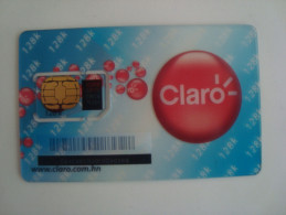 HONDURAS - GSM SIM CARD - CLARO - TRANSPARENT - VERY RARE - Honduras