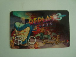 DISNEY QUEST CARD - $10 - REPLAY ZONE - RARE CARD - Unclassified